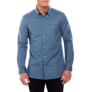 John Varvatos Star USA Luxe Slim Fit Shirt Blue L